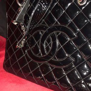 Chanel Noir Patent Tote Bag